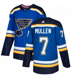 Mens Adidas St Louis Blues 7 Joe Mullen Authentic Royal Blue Home NHL Jersey