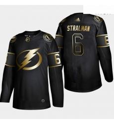 Lightning 6 Anton Stralman Black Gold Adidas Jersey