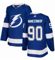 Mens Adidas Tampa Bay Lightning 90 Vladislav Namestnikov Premier Royal Blue Home NHL Jersey