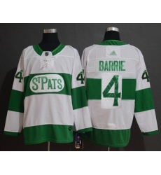 Maple Leafs #4 Tyson Barrie White Authentic St  Pats Stitched Hockey Jersey