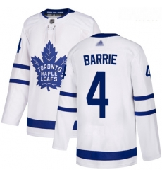 Maple Leafs #4 Tyson Barrie White Road Authentic Stitched Hockey Jersey