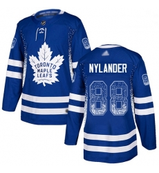 Maple Leafs 88 William Nylander Blue Home Authentic Drift Fashion Stitched Hockey Jersey