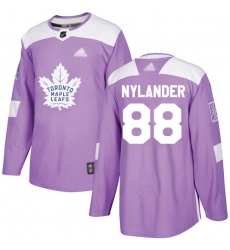 Maple Leafs 88 William Nylander Purple Authentic Fights Cancer Stitched Hockey Jersey