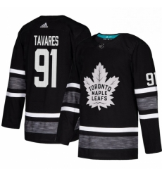 Mens Adidas Toronto Maple Leafs 91 John Tavares Black 2019 All Star Game Parley Authentic Stitched NHL Jersey