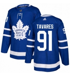 Mens Adidas Toronto Maple Leafs 91 John Tavares Premier Royal Blue Home NHL Jersey