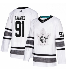 Mens Adidas Toronto Maple Leafs 91 John Tavares White 2019 All Star Game Parley Authentic Stitched NHL Jersey