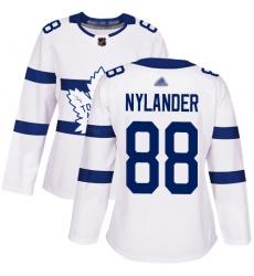 Women Maple Leafs 88 William Nylander White Authentic 2018 Stadium Series Stitched Hockey Jersey