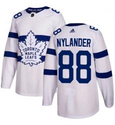 Youth Maple Leafs 88 William Nylander White Authentic 2018 Stadium Series Stitched Hockey Jersey
