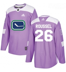 Canucks #26 Antoine Roussel Purple Authentic Fights Cancer Stitched Hockey Jersey