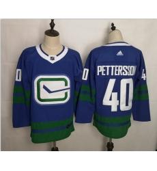 Canucks 40 Elias Pettersson Blue Adidas Jerseys