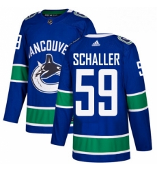 Mens Adidas Vancouver Canucks 59 Tim Schaller Authentic Blue Home NHL Jersey