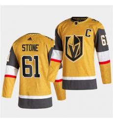Golden Knights 61 Mark Stone 2020 21 Alternate Player Gold Jersey