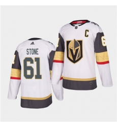 Golden Knights 61 Mark Stone 2021 Captain White Jersey
