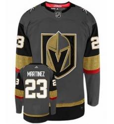 Men Vegas Golden Knights 23 Alec Martinez Gray Adidas Jersey