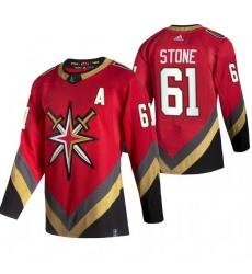 Men Vegas Golden Knights 61 Mark Stone Red Adidas 2020 21 Reverse Retro Alternate NHL Jersey