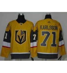 Men Vegas Golden Knights 71 William Karlsson Gold 2020 21 Adidas Jersey