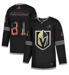 Men Vegas Golden Knights 81 Jonathan Marchessault Black USA Flag Fashion Adidas Jersey