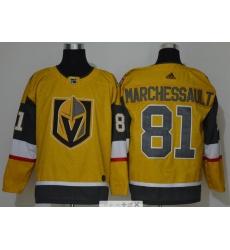 Men Vegas Golden Knights 81 Jonathan Marchessault Gold 2020 21 Adidas Jersey