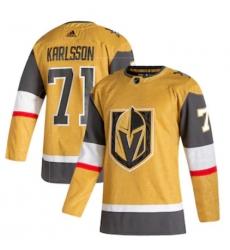 Men Vegas Golden Knights William Karlsson adidas Gold 2020 21 Alternate Authentic Player Jersey