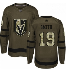 Mens Adidas Vegas Golden Knights 19 Reilly Smith Authentic Green Salute to Service NHL Jersey