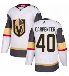 Mens Adidas Vegas Golden Knights 40 Ryan Carpenter Authentic White Away NHL Jersey