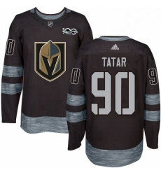 Mens Adidas Vegas Golden Knights 90 Tomas Tatar Authentic Black 1917 2017 100th Anniversary NHL Jersey