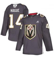 Vegas Golden Knights 14 Nicolas Hague Gray Dia De Los Muertos Adidas Jersey