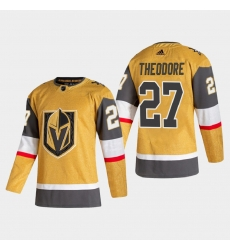 Vegas Golden Knights 27 Shea Theodore Men Adidas 2020 21 Authentic Player Alternate Stitched NHL Jersey Gold