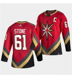 Vegas Golden Knights 61 Mark Stone 2021 Reverse Retro Red Jersey