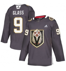 Vegas Golden Knights 9 Cody Glass Gray Dia De Los Muertos Adidas Jersey