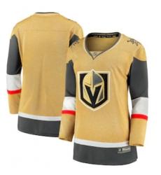 Women Vegas Golden Knights Fanatics Branded Gold 2020 21 Alternate Premier Breakaway Jersey