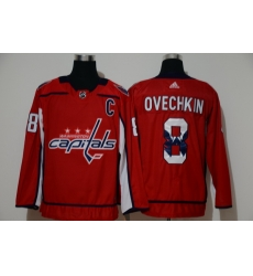 Men Washington Capitals 8 Alexander Ovechkin Red Adidas Fashion Jersey