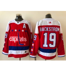 Men Washington Capitals Nicklas Backstrom 19 white Red 2020 21 Reverse Retro Adidas Jersey