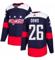 Mens Adidas Washington Capitals 26 Nic Dowd Authentic Navy Blue 2018 Stadium Series NHL Jersey