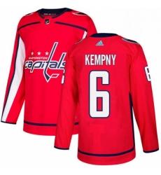 Mens Adidas Washington Capitals 6 Michal Kempny Premier Red Home NHL Jersey