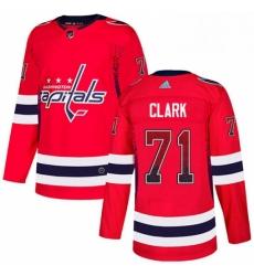 Mens Adidas Washington Capitals 71 Kody Clark Authentic Red Drift Fashion NHL Jersey