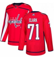 Mens Adidas Washington Capitals 71 Kody Clark Authentic Red Home NHL Jerse