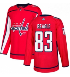 Mens Adidas Washington Capitals 83 Jay Beagle Premier Red Home NHL Jersey