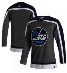 Men Winnipeg Jets Blank Gray 2020 21 Reverse Retro Adidas Jersey