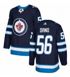 Mens Adidas Winnipeg Jets 56 Marko Dano Premier Navy Blue Home NHL Jersey