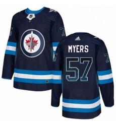 Mens Adidas Winnipeg Jets 57 Tyler Myers Authentic Navy Blue Drift Fashion NHL Jersey