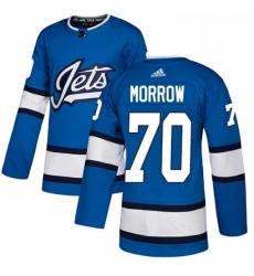 Mens Adidas Winnipeg Jets 70 Joe Morrow Authentic Blue Alternate NHL Jersey
