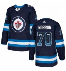 Mens Adidas Winnipeg Jets 70 Joe Morrow Authentic Navy Blue Drift Fashion NHL Jersey
