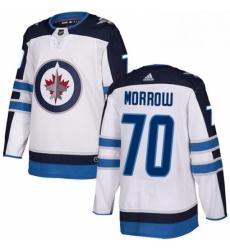 Mens Adidas Winnipeg Jets 70 Joe Morrow Authentic White Away NHL Jerse