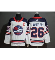 Winnipeg Jets 26 Blake Wheeler White Adidas Jersey