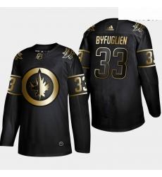 Winnipeg Jets 33 Dustin Byfuglien Black Gold Adidas Jersey
