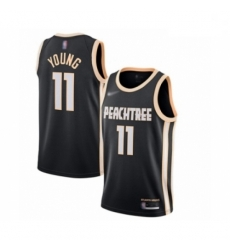 Hawks 11 Trae Young Black Basketball Swingman City Edition 2019 20 Jersey