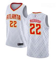 Hawks #22 Cam Reddish White Basketball Swingman Association Edition Jersey