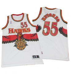 Men Hawks Dikembe mutombo private school red hardwood classics jersey