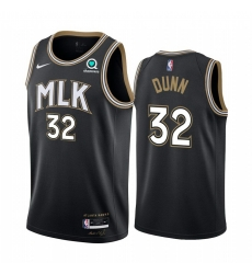 Men Nike Atlanta Hawks 32 Kris Dunn Black NBA Swingman 2020 21 City Edition Jersey